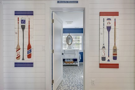 Centerville Cape Cod vacation rental - Bathroom with shower and laundry