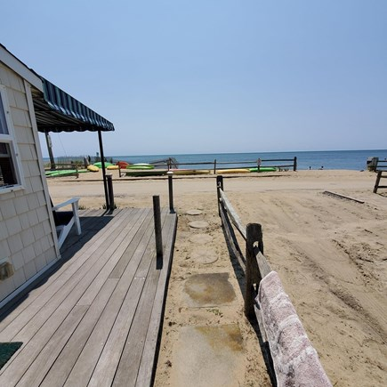 Dennis, Old Wharf Road Cape Cod vacation rental - Beach Deck