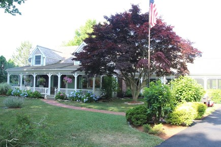 Orleans Cape Cod vacation rental - Front of house and porch with seating