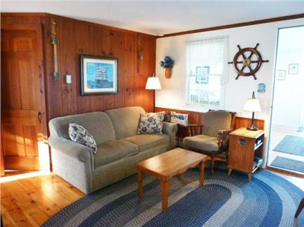 West Dennis Cape Cod vacation rental - Living room with fireplace and 2nd TV