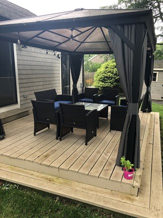 Hyannis Cape Cod vacation rental - Backyard Deck and Gazebo