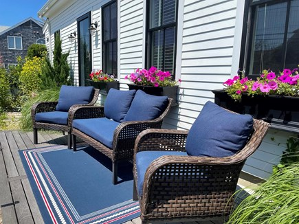 Provincetown Cape Cod vacation rental - Front deck facing Commercial Street.