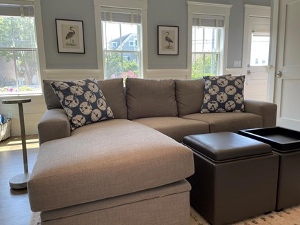 Provincetown Cape Cod vacation rental - Living room sofa bed.