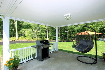 Bourne, Monument Beach Cape Cod vacation rental - Covered deck with grill