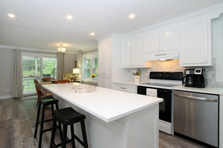 Bourne, Monument Beach Cape Cod vacation rental - New kitchen with Dining area and AC