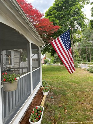 West Dennis Cape Cod vacation rental - Front Entrance and Screen Porch