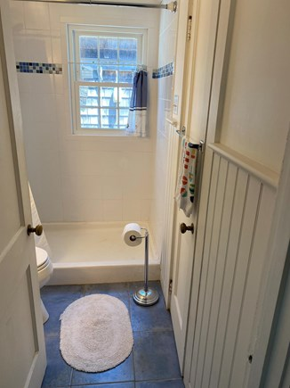 West Dennis Cape Cod vacation rental - Bathroom with walk-in tiled shower