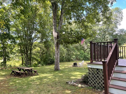 North Falmouth/Old SIlver Beac Cape Cod vacation rental - Picnic Table and Fire Pit on Property