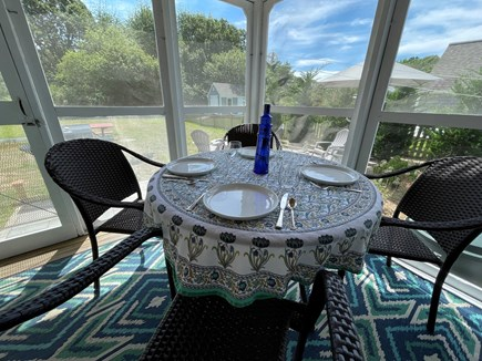 Eastham Cape Cod vacation rental - Enjoy dinner on the screened in porch & listen to the birds