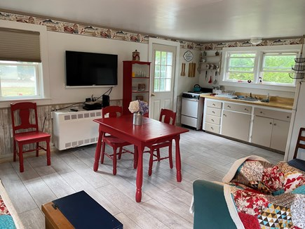 Chatham Cape Cod vacation rental - Kitchen and dining area with TV