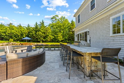 Brewster, 164-B Cape Cod vacation rental - Natural Gas Powered Enormous Grill and Fire Table