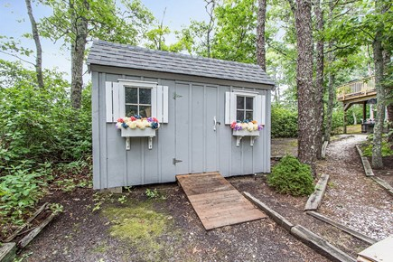 Harwich - Brewster Border / Ch Cape Cod vacation rental - Shed with entertainment items for the pond