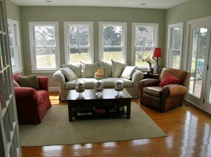 Eastham Cape Cod vacation rental - Sunroom with views of private back yard