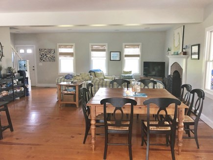 Eastham Cape Cod vacation rental - Square kitchen table, open floor plan with seating for 8