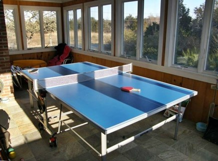 Eastham Cape Cod vacation rental - Ping pong table in the large screened in porch