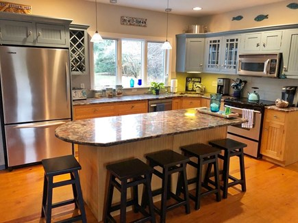 Eastham Cape Cod vacation rental - Updated custom kitchen with granite island and 5 stools