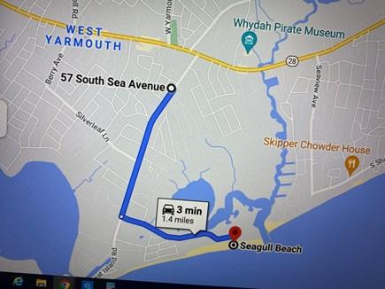 Yarmouth, Seagull Beach Awaits You! Cape Cod vacation rental - Map