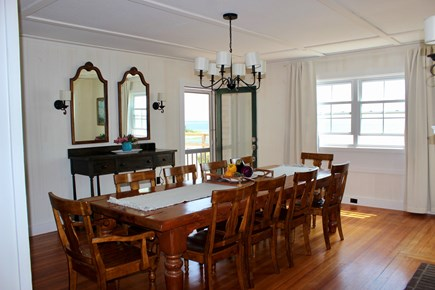 Wareham - Little Harbor - No S MA vacation rental - Spacious dining room with fireplace and custom made pine table.
