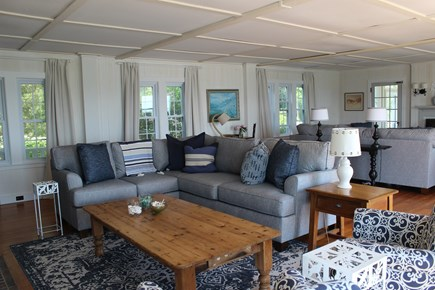 Wareham - Little Harbor - No S MA vacation rental - Grand living room with fireplaces.