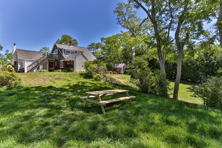 Truro Cape Cod vacation rental - Meadow, picnic and grilling area. We offer gas + charcoal grills.