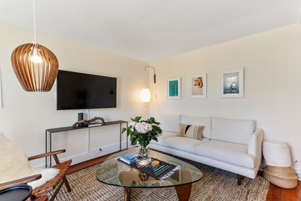 Truro Cape Cod vacation rental - Comfy seating area with large Smart TV.
