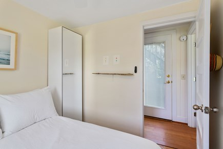 Truro Cape Cod vacation rental - Small closet + full length mirror in full-size bedroom