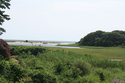 West Hyannisport Cape Cod vacation rental - View out the cut into Nantucket Sound. Taken from seating outlook