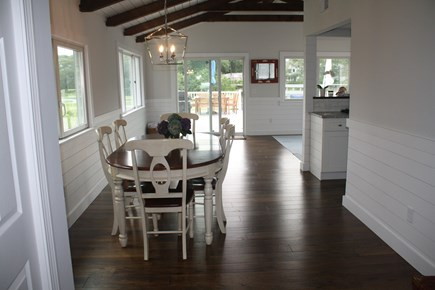 West Hyannisport Cape Cod vacation rental - View when you walk in the house, dining room table