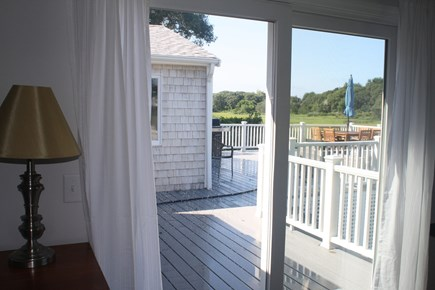 West Hyannisport Cape Cod vacation rental - Slider walk-out from master bedroom to outdoor shower and deck.