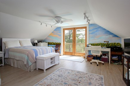 Sandwich Cape Cod vacation rental - Master bedroom suite with french doors to marshviews
