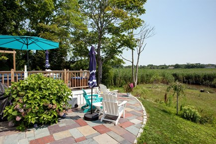Sandwich Cape Cod vacation rental - Outdoor patio and yard with marshviews
