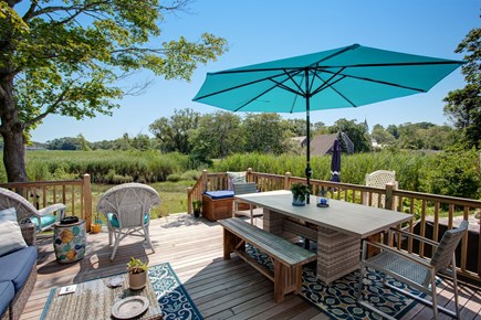 Sandwich Cape Cod vacation rental - In good weather, eat breakfast, lunch, and dinner outside!