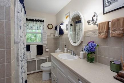 Sandwich Cape Cod vacation rental - Downstairs full bath with tub/shower