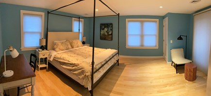 Bourne Cape Cod vacation rental - Second floor king canopy bed with water view from private balcony