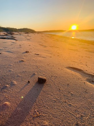 Bourne Cape Cod vacation rental - Sunset at private beach is 200 feet from your front door
