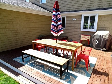 Bourne Cape Cod vacation rental - Relax and dine on the patio with gas grill