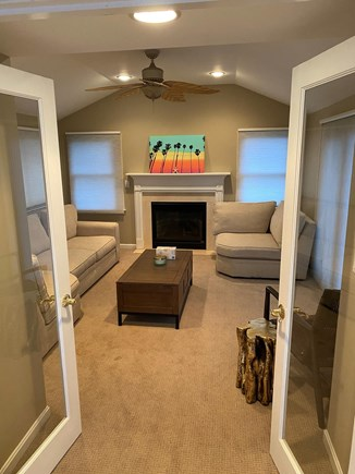 Bourne Cape Cod vacation rental - Cozy family room with gas fireplace