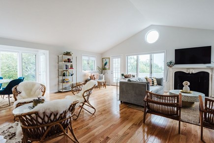 Brewster Cape Cod vacation rental - Open floor plan, vaulted ceilings for a sense of light and space.
