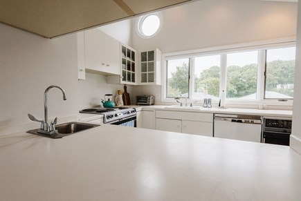 Brewster Cape Cod vacation rental - Plenty of counter space and a view of the bay.
