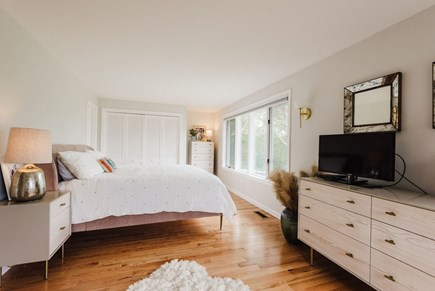 Brewster Cape Cod vacation rental - King master bedroom, lower level.