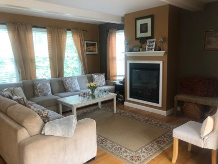 Dennis Cape Cod vacation rental - Family Room with Gas Fireplace