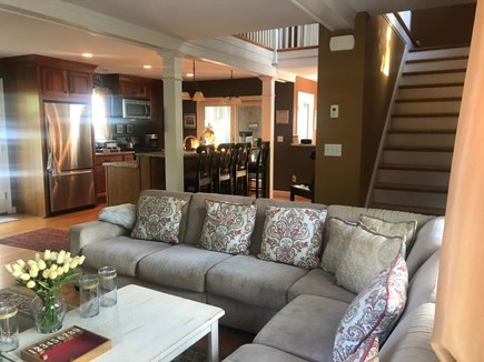 Dennis Cape Cod vacation rental - Family Room and Kitchen Views