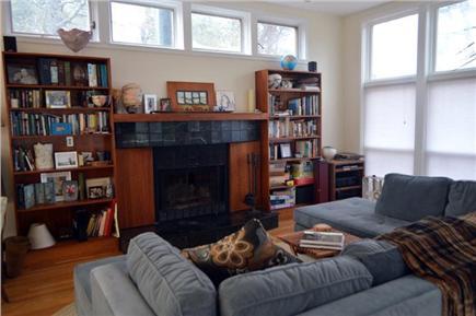 Wellfleet Cape Cod vacation rental - Living Room - Fireplace