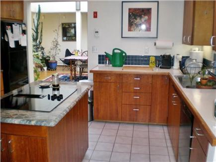 Wellfleet Cape Cod vacation rental - Kitchen with cherry cabinets, locally made.