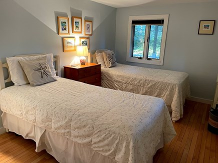 Wellfleet, Lieutenant Island Cape Cod vacation rental - Lower Level Bedroom #2 with Two Single Beds