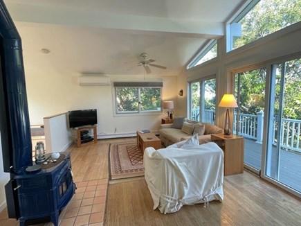 Wellfleet, Lieutenant Island Cape Cod vacation rental - Living Room with TV and Mini-Split AC