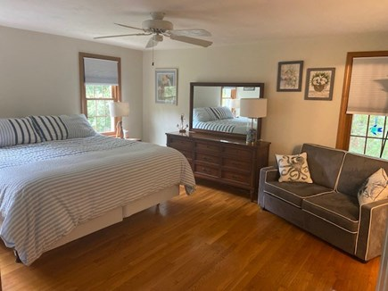 East Harwich Cape Cod vacation rental - Master Bedroom: King Bed; TV on Wall