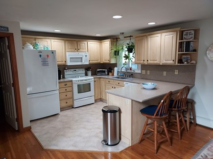 East Harwich Cape Cod vacation rental - Kitchen amenities lobster pot, blender, service for 14.