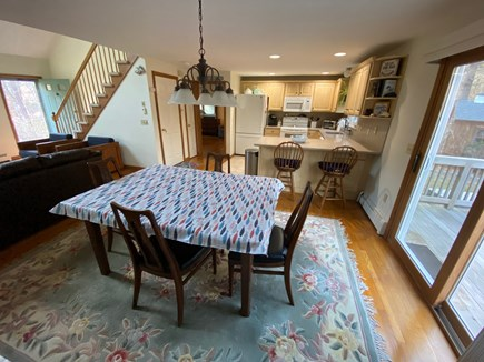East Harwich Cape Cod vacation rental - Dining Room with sliders to the deck