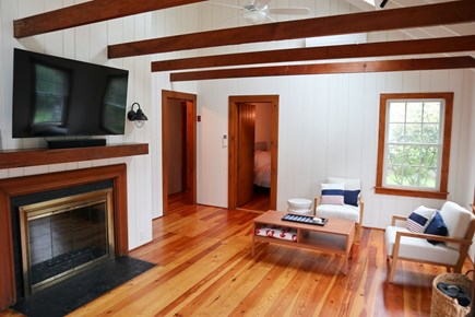 Brewster Cape Cod vacation rental - Exposed beam, vaulted ceiling provides sense of space, light